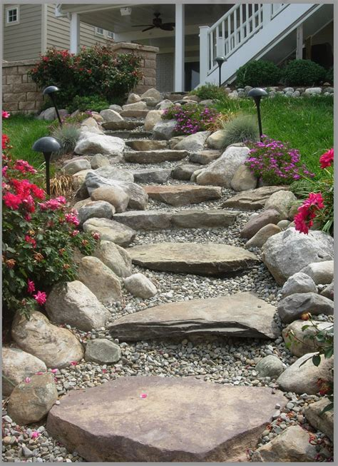 how to enhance your yard through stone steps and pathways