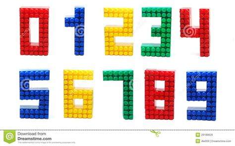 printable lego numbers lego digits set isolated stock image image of standing