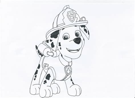 coloring pages of marshall paw patrol marshall paw patrol free colouring pages