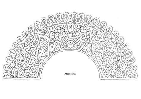 encaje de hinojosa patrones abanico encaje ruso patrones de bolillos pinterest