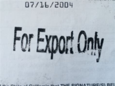 For Only For Buyer for export only title vehicle title buyer beware
