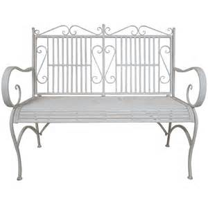 harrows outdoor furniture titan outdoor antique white metal bench chair porch patio
