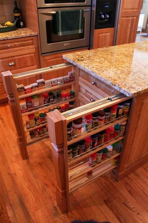 kitchen cabinet spice rack 12 ideas to bring sophistication to your kitchen island