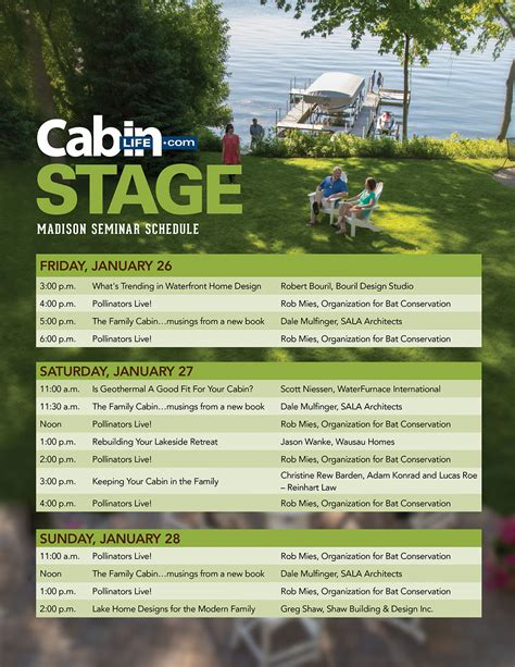 chicago features lake home cabin show official site madison seminars lake home cabin show official site