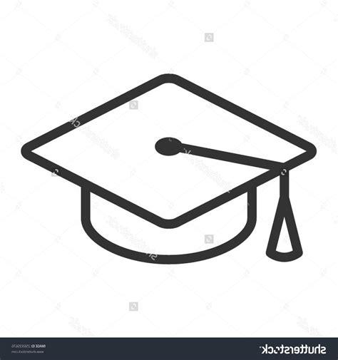 best vector websites best stock vector graduation hat cap line icon for