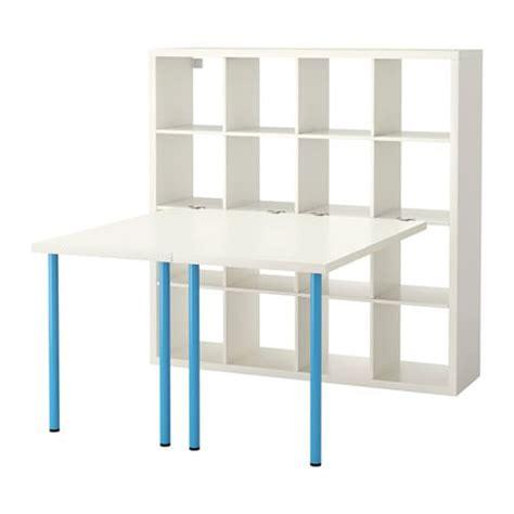 escritorio kallax kallax combinaci 243 n escritorio blanco azul ikea