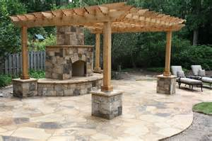 Pergola With Fireplace by Fireplace With Modern Pergola Designs And Outdoor
