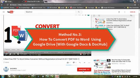 convert pdf to word by google how to convert pdf to word using google drive online free