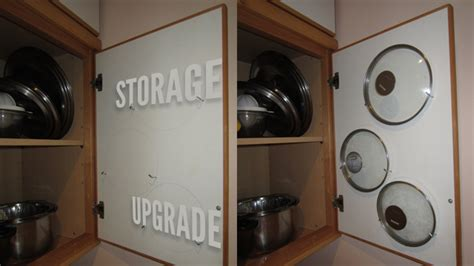 Saucepan Lid Storage Store Saucepan Lids Inside Your Cabinet Doors Lifehacker