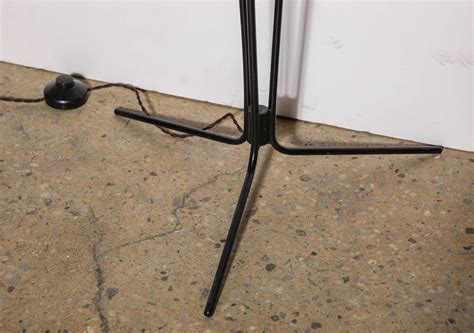 Black Iron Floor L by 1950 S Modern Three Stem Black Iron Floor L With
