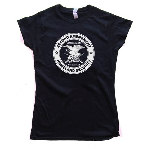 Cctv Second womens americas original homeland security the second amendment shirt