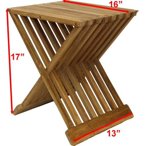 sauna bench wood new teak wood folding stool bench shower sauna seat ebay