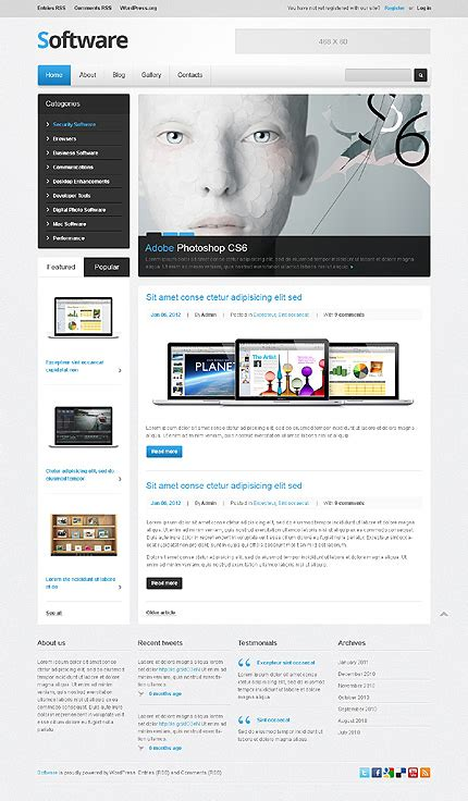 amazing software website templates entheos