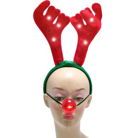 light reindeer light up reindeer antlers and nose 23136rdaj