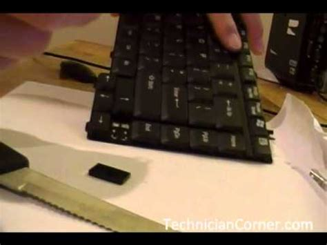 how to replace key on toshiba laptop keyboard