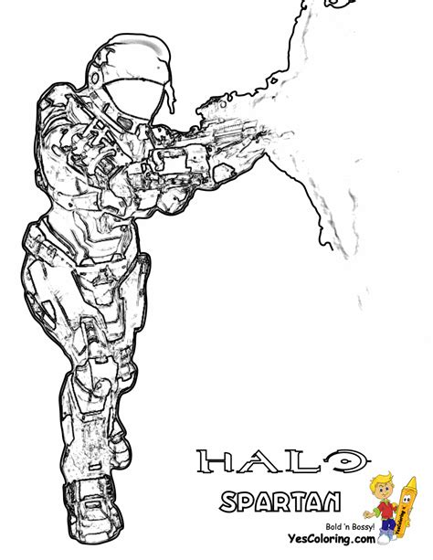 Heavy Halo Reach Coloring Free Halo Reach Halo Spartan Coloring Pages
