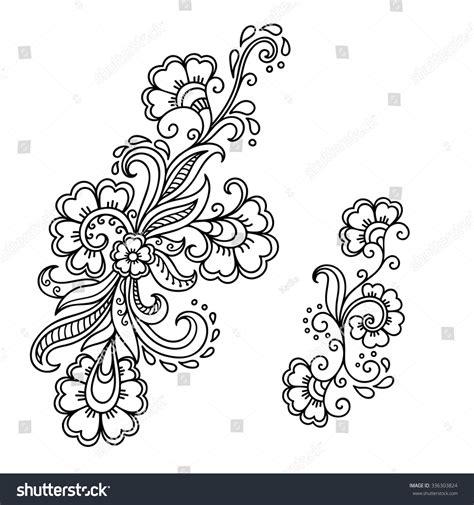 tattoo flower templates henna tattoo flower templatemehndi stock vector 336303824