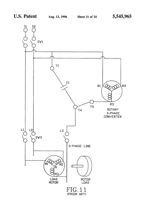Patent US5545965 - Three phase motor operated from a