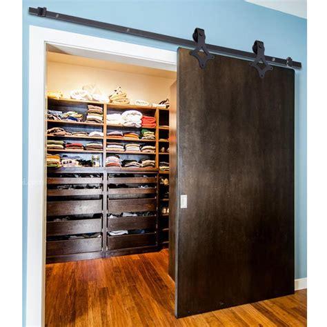 Closet Track System 5ft 6 6ft Wood Door Barn Hardware Closet Set Sliding