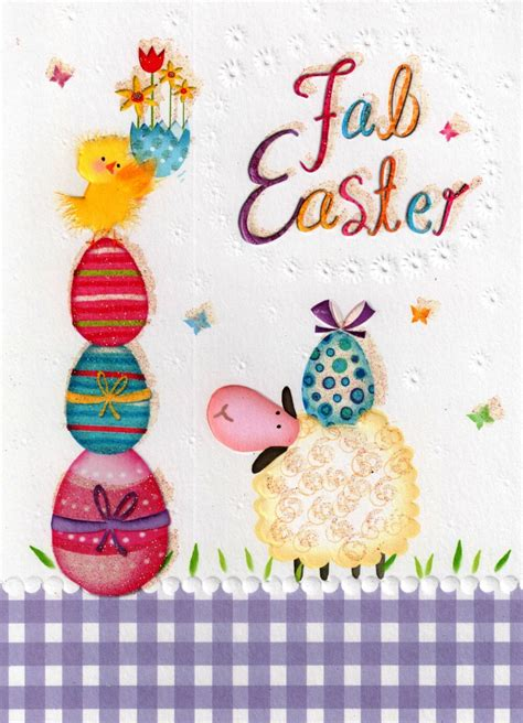 Glitter Birthday Cards Fab Easter Glitter Finished Greeting Card Cards Love Kates