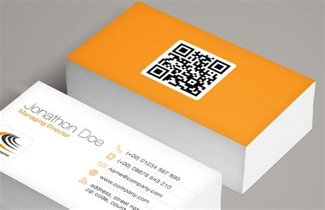 business card with qr code template qr code business card template medialoot