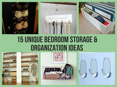 bedroom storage ideas diy 15 unique bedroom storage organization ideas