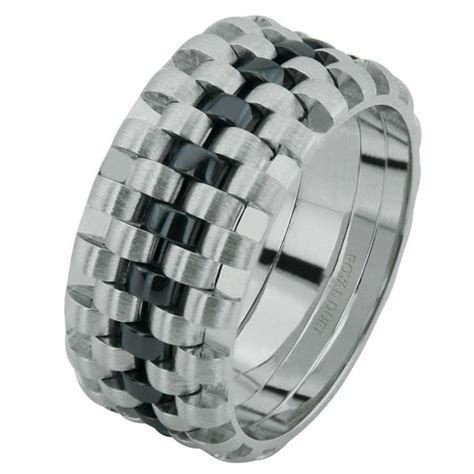 6873403we white gold black rhodium wedding ring