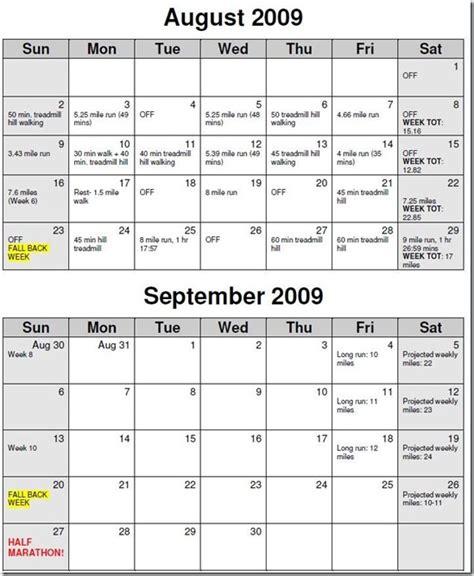 Marathon Calendar Image Gallery Marathon Calendar
