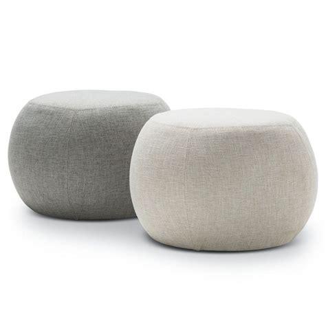 grey round ottoman venus fabric round pouf ottoman in light grey 35cm buy