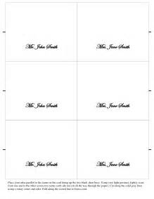 Place Name Cards Template by 7 Best Images Of Free Printable Table Place Cards Template