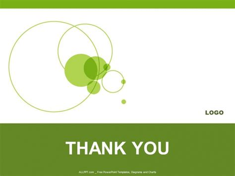 thank you powerpoint template green circle powerpoint templates design free