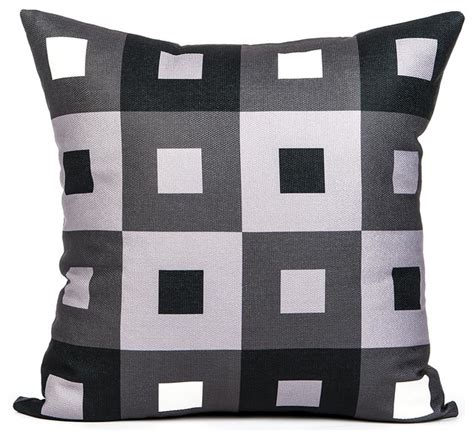 quot a pex quot black white and gray throw pillow modern