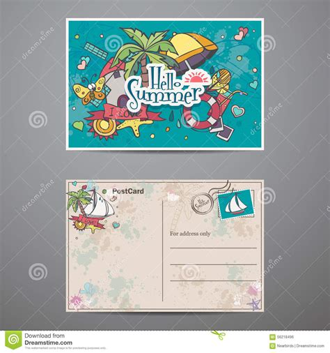 wish you were here postcard template postcard summer royalty free stock photography