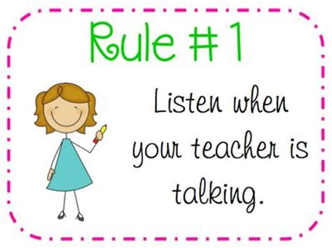 printable poster classroom rules 10 best images about classroom rules on pinterest rules