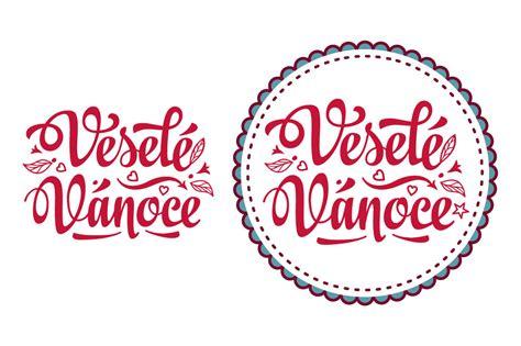 vesele vanoce czech language merry christmas lettering text festive message christmas