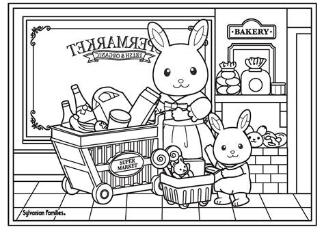 Baby Calico Critters Coloring Page Coloring Pages Calico Critters Coloring Pages