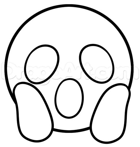 coloring pages of emoji faces how to draw surprised emoji step 4 how to draw