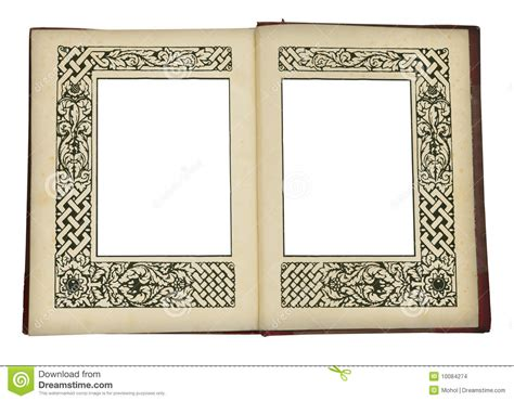 book picture frames vintage book opened with picture frames stock images
