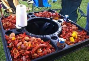 cajun crawfish table aiiyyyeeee louisiana sportsman