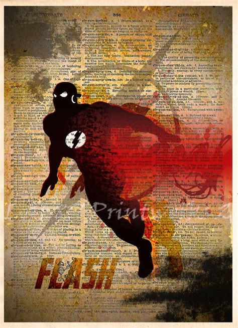 The Flash Art The Flash Poster Vintage Silhouette Print Flash Artist Project