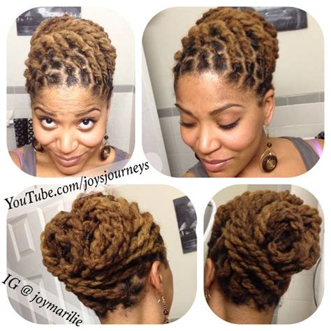 loc and twist hairstyles with color two strand twist loc pin up just a few changes from the