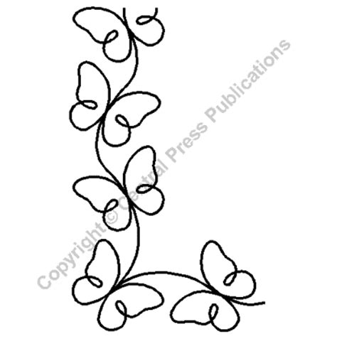 Continuous Line Quilting by Quilting Stencils Gt Flying Friends Item 3 5 Quot On