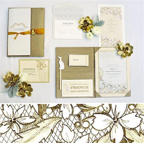 painted wedding invitations martha stewart metallic wedding ideas on martha stewart s s