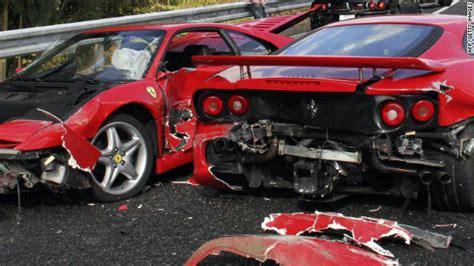 8 Ferrari Accident by Traffic Crash In Japan Takes Out 8 Ferraris Lamborghini