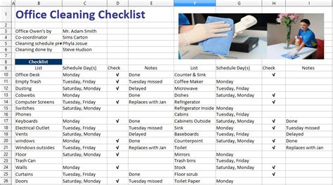 free office cleaning checklist templates 5 free sle office cleaning schedule templates