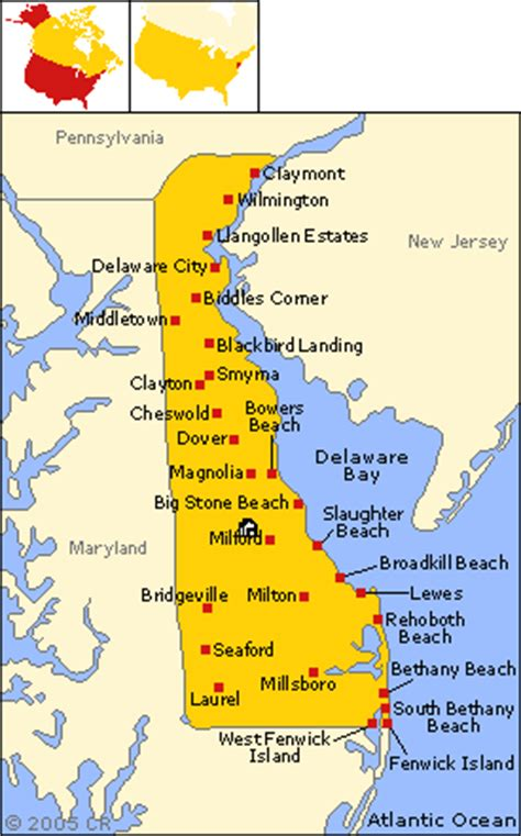 map maryland delaware beaches directions
