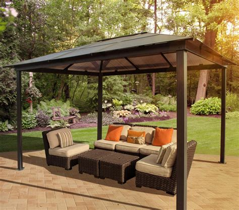 Permanent Patio Canopy Patio Gazebo Canopy Outdoor Living Garden Deck Pool Roof