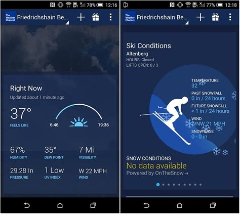 weather channel app android 12 best weather apps and widgets for android androidpit