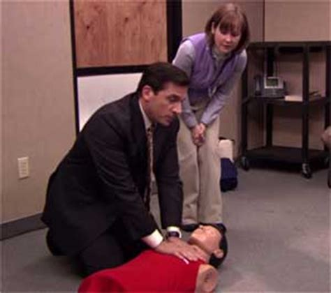 The Office Cpr by Taking A Tip From The Office When Learning Cpr