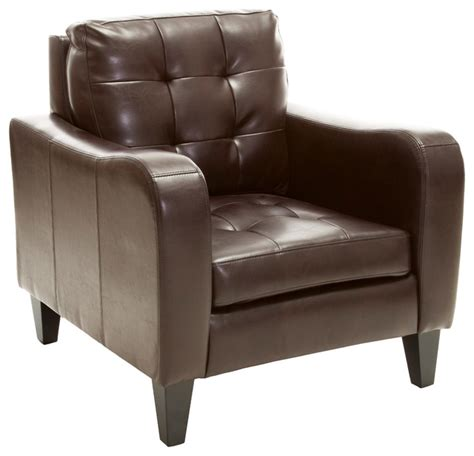 contemporary leather armchairs bowdon leather club chair brown contemporary
